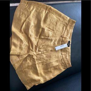 J crew silk shorts size 8